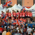 On the podium in Saboudia Italy 2008