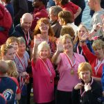 Smiles all round at the medal ceremony, Nottingham Finals, 2011